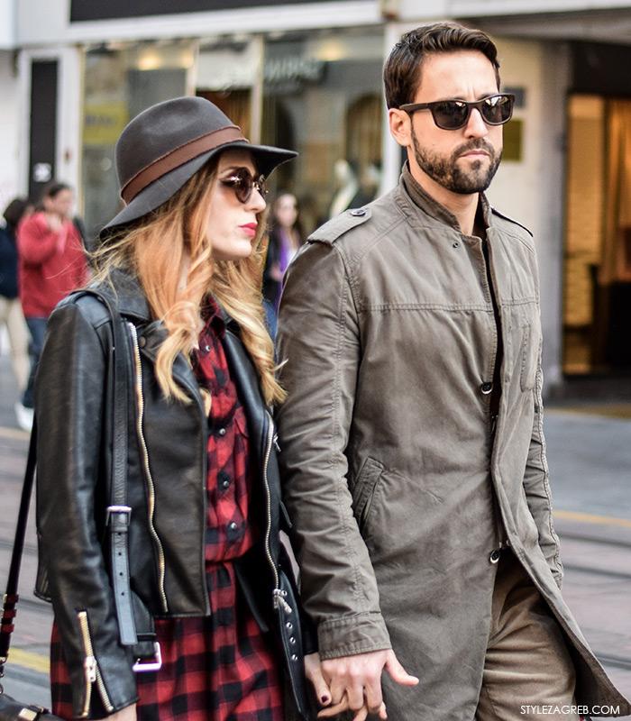 Glumica Nataša Janjić i ginekolog Marko Kisić, ulična moda jesen, stajling šešir, street style moda by Style Zagreb Com