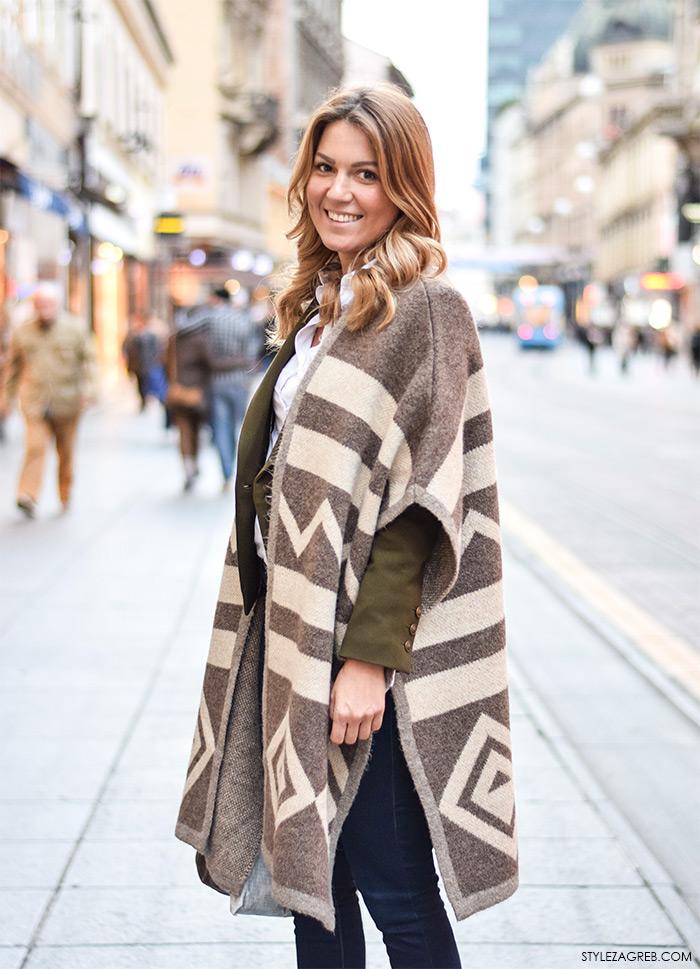 Tanja Ninić, pončo stajling, foto by StyleZagreb.com