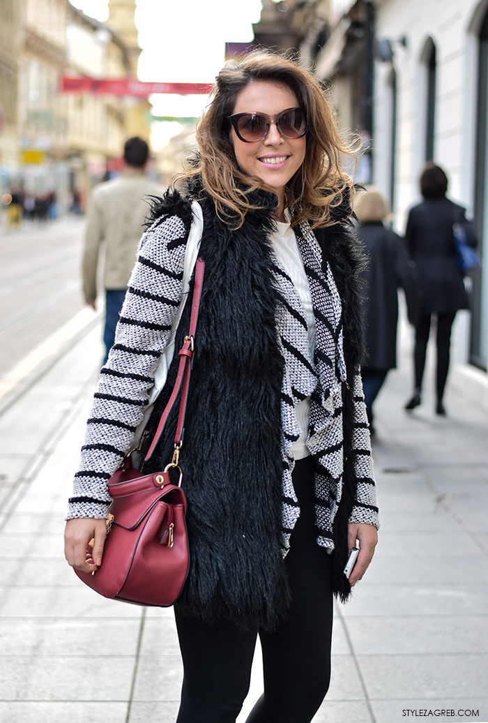 Valentina Penić, head hunter, Moda street style Zagreb: kako stilizirati krzneni prsluk by StyleZagreb.com
