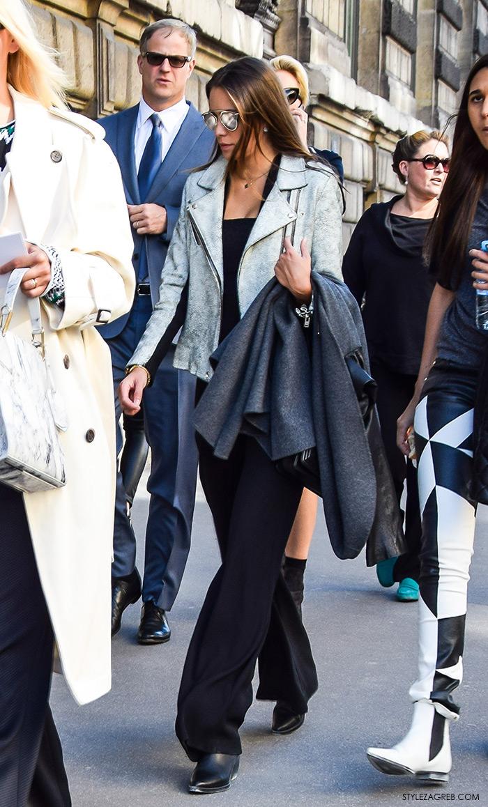 Kako stilizirati sivu bajkersku jaknu, street style moda, Style Zagreb