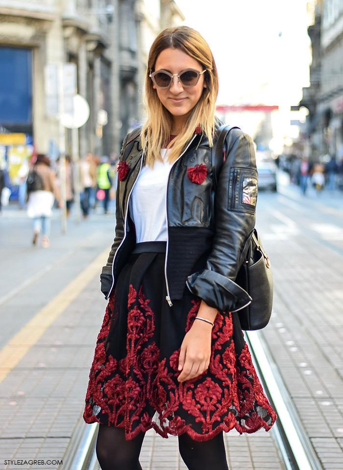 Anja Stanić, pravnica, Street style moda advent Zagreb