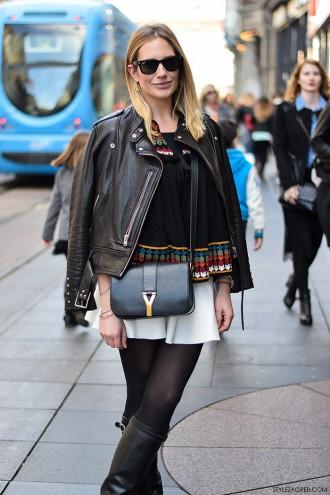 Ivana Schildenfeld, street style špica Zagreb moda jesen 2015, kako stilizirati bijelu minicu, StyleZagreb.com