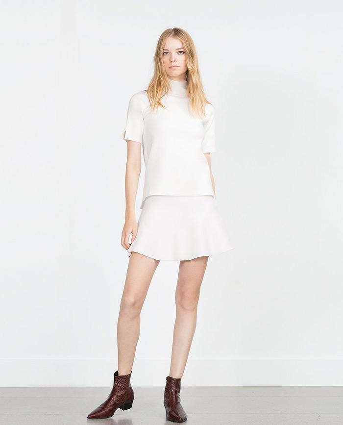 Zara bijela minica, Street style špica Zagreb moda jesen 2015, kako stilizirati bijelu minicu, StyleZagreb.com