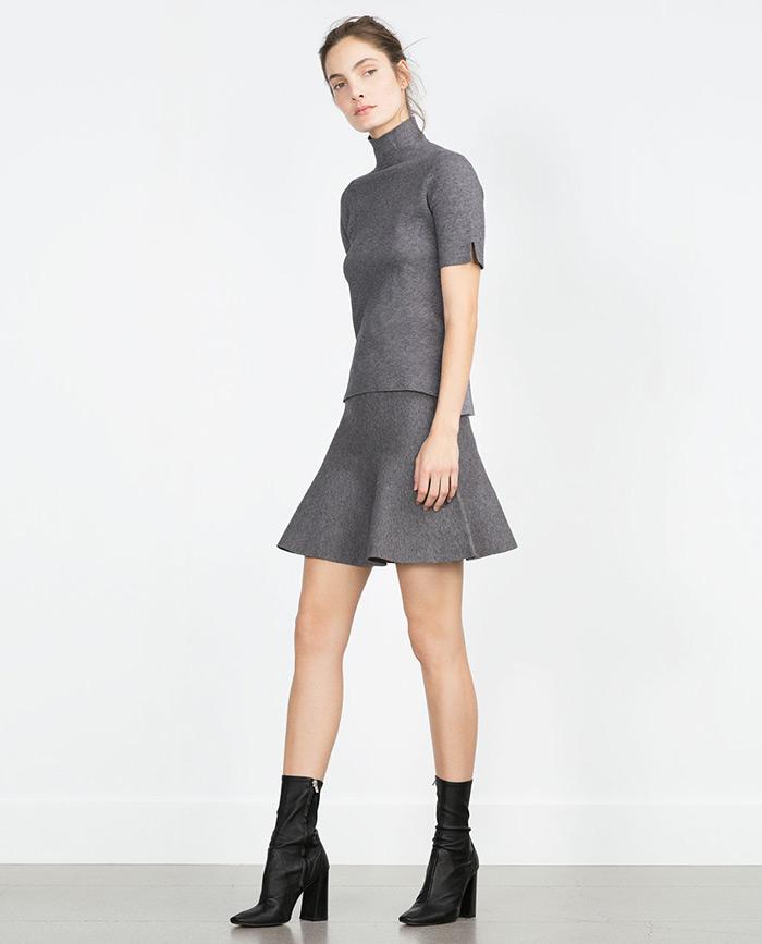 Zara siva minica, Street style špica Zagreb moda jesen 2015, kako stilizirati sivu minicu, StyleZagreb.com