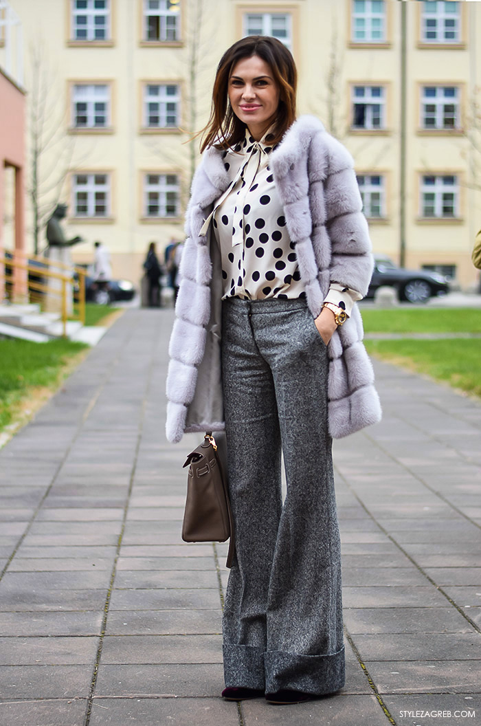Zagreb street style moda: Branka Krstulović, hlače širokih nogavica
