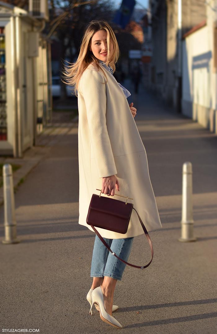 Moda: kako kombinirati bijeli kaput