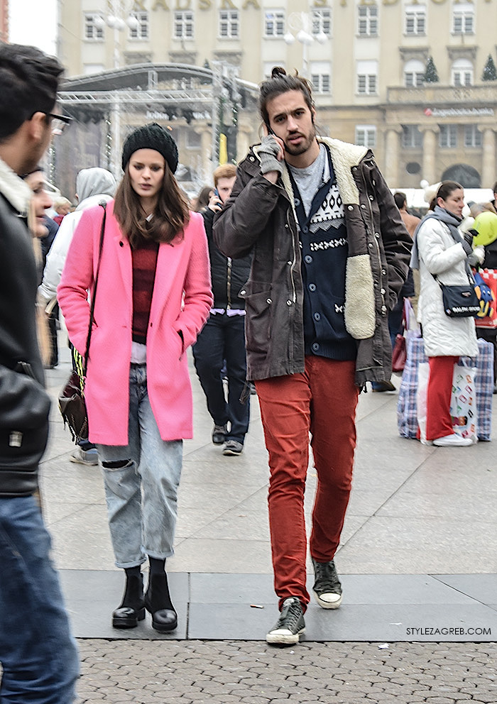Filip Renić i cura, advent street style Zagreb