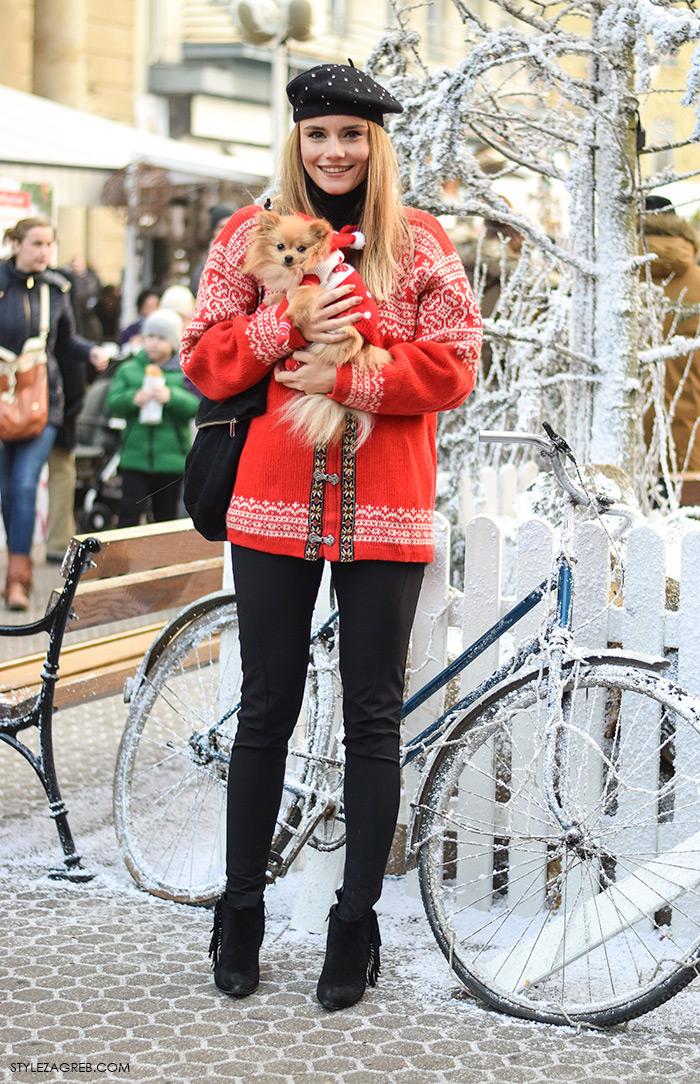 Zagreb in winter, street style, Nina Mia Čikeš stil, ulična moda