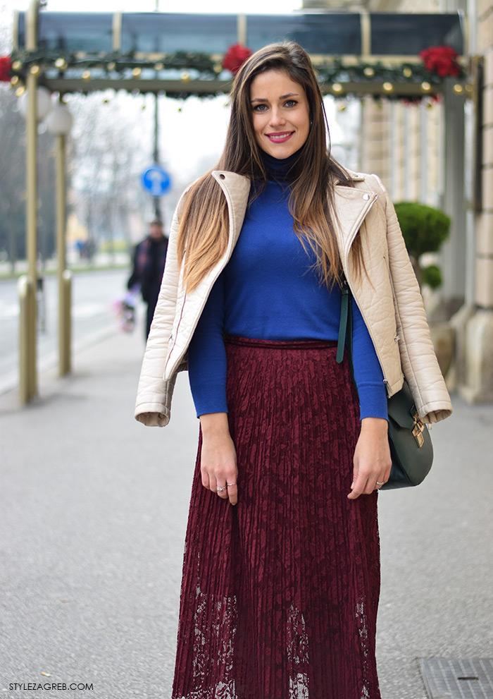 Anastazija Makjanić, Stazi Sweets blog, dnevni stajling s midi suknjom