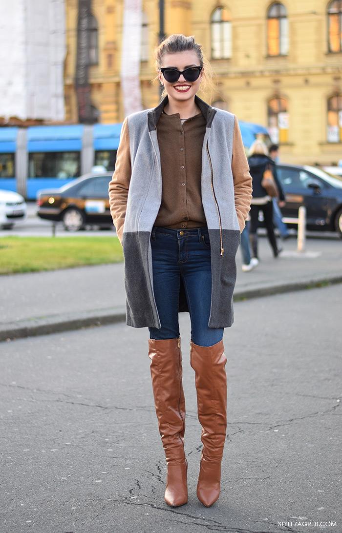 Street style Zagreb, Ella Dvornik, čizme preko koljena
