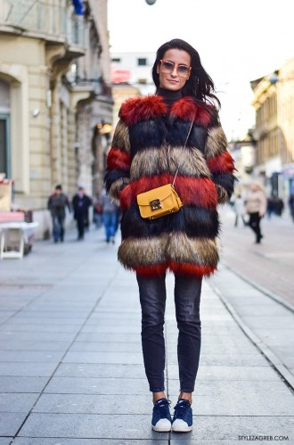 Prehladno da bi dobro izledali? Ne i u Zagrebu! #streetstyle by StyleZagreb.com Petra Arsenali