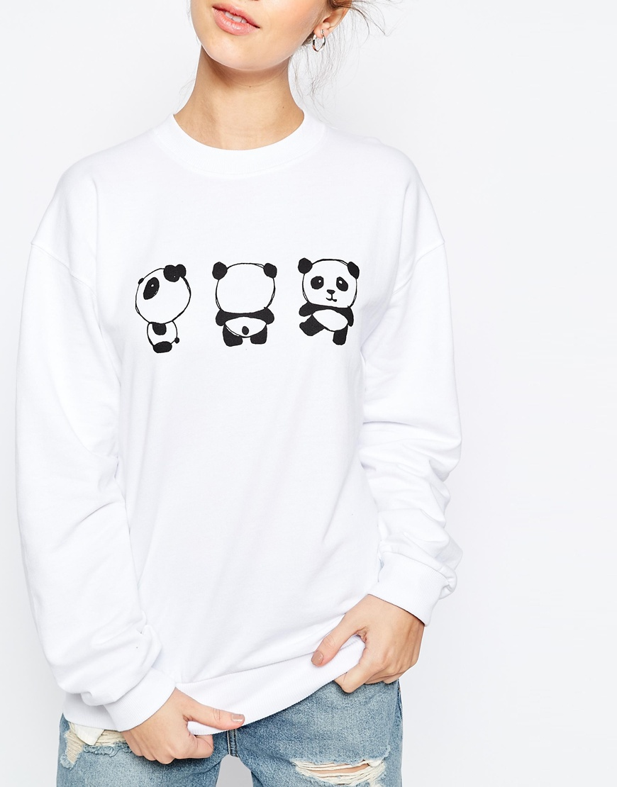 Što odjenuti za vikend, ASOS Sweatshirt with Cute Panda Print 3