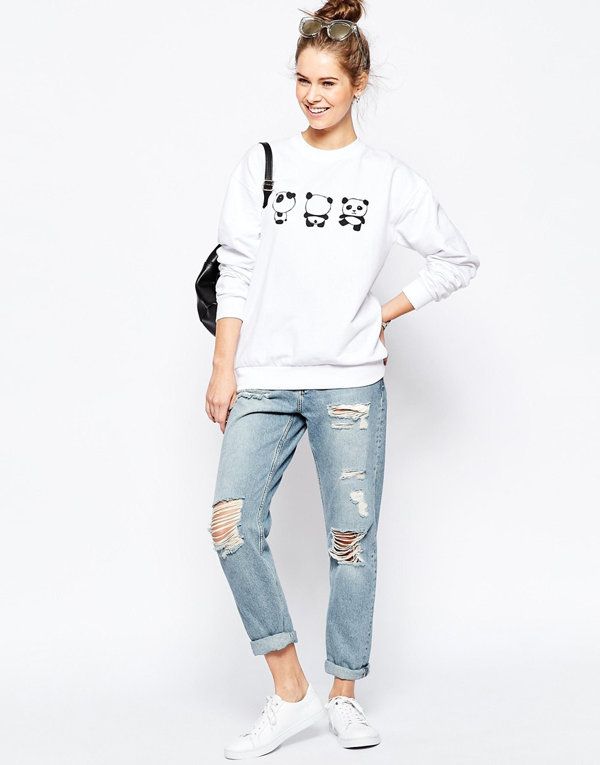 Što odjenuti za vikend, ASOS Sweatshirt with Cute Panda Print 4