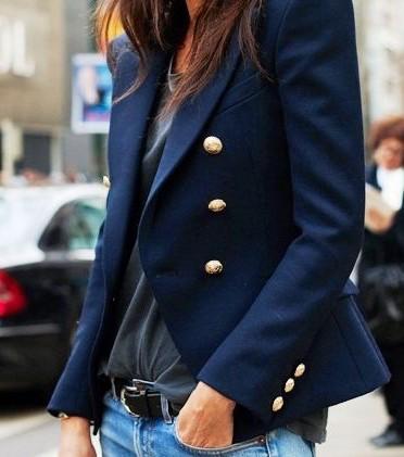 Kako nositi mornarski kaput, street style Paris, ulična moda by Stylezagreb com