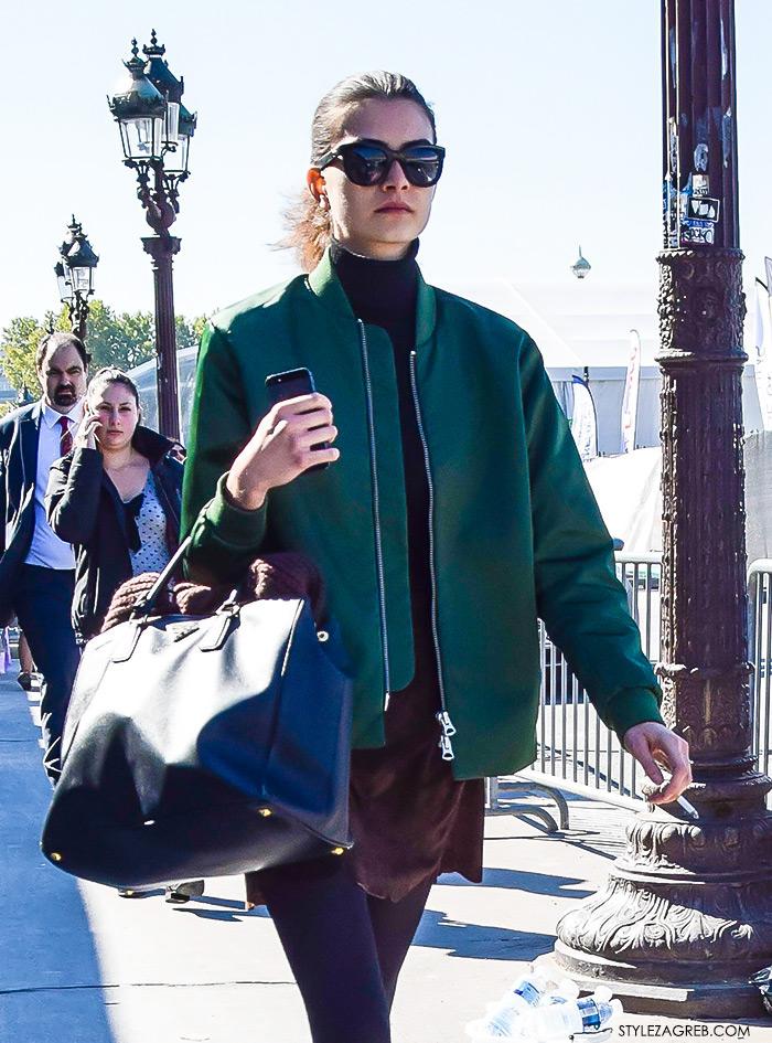 Kako kombinirati: street style outfit sa bomber jaknom