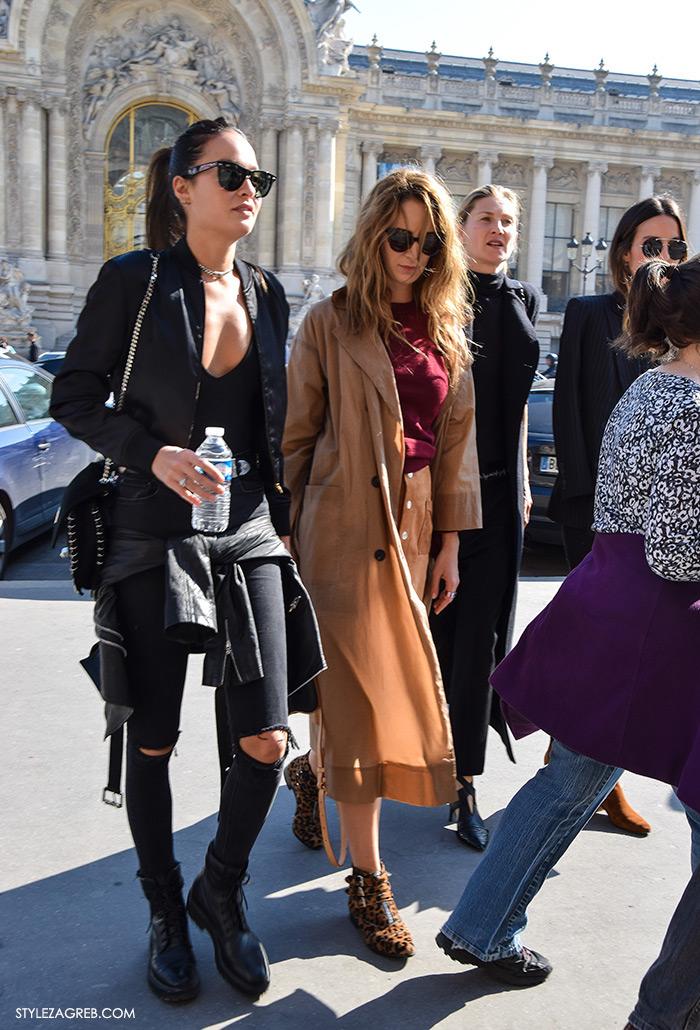MODA: Kako kombinirati - street style outfit sa bomber jaknom i poderane traperice