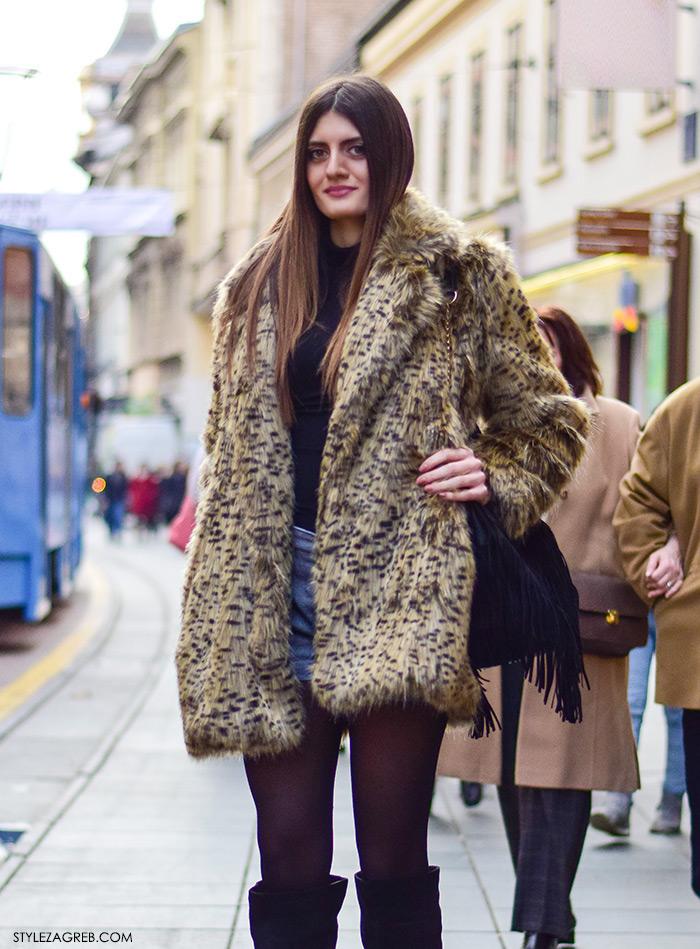 Kako nositi šorc, bundicu, čizme preko koljena, boho stil. Zagreb street style, ulična moda Klaudija Lozić iz Vinkovaca