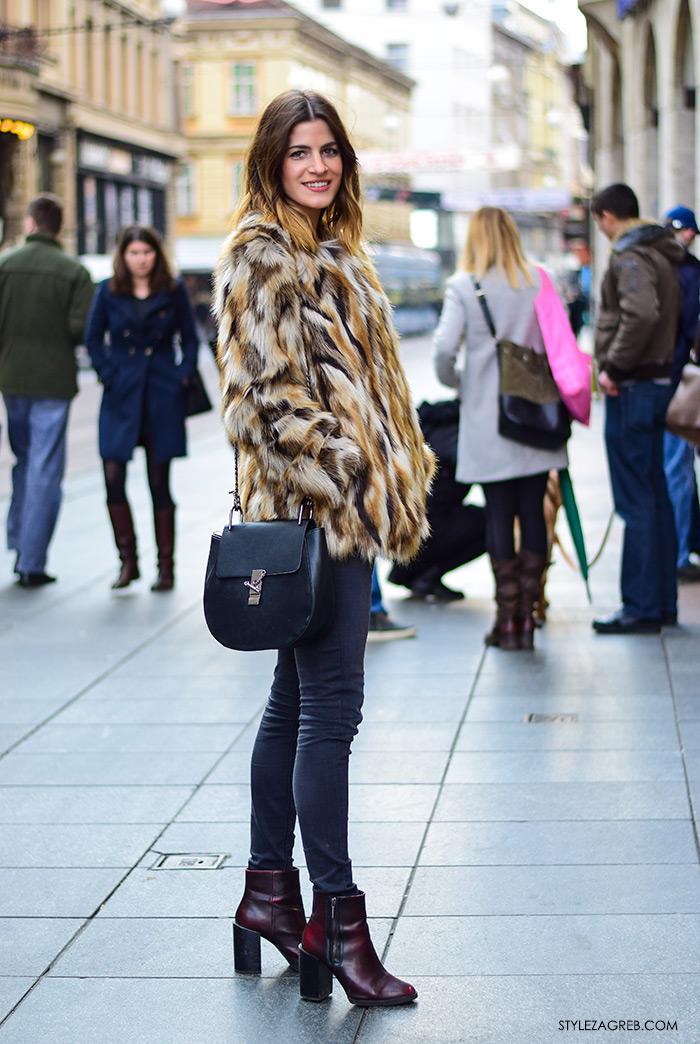 Kako kombinirati bundicu i čizme do gležnja, Zagreb street style ulična moda, subota špica, Jana Maljić, studentica ekonomije iz Pule