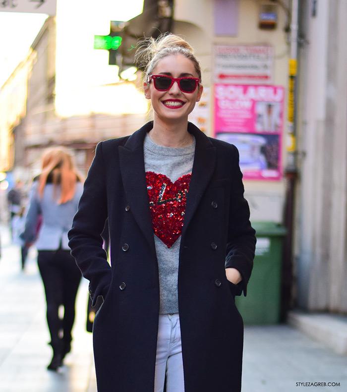 Ideje za dnevni stajling, ulična moda 2016 Zagreb street style Sara Gulin, Valentinovo, udruga žena, super žena, gloria časopis za žene, život i zdravlje, poslovna žena, zadovoljna žena