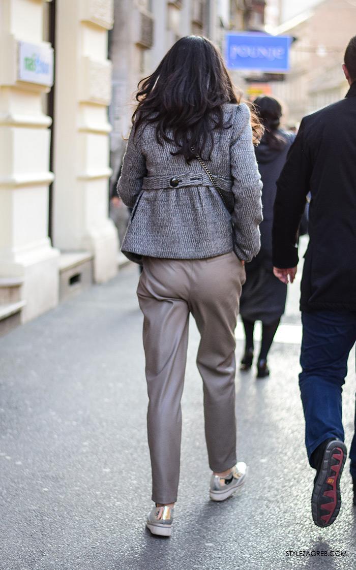poslovni look za mlade žene žena moda fashion hr zagrebačka špica, kako se obuci za razgovor za posao slike, što obući za intervju za posao, street style Zagreb, outfit inspiracije: hlače od umjetne kože