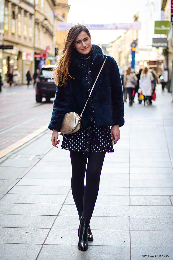 ulicna moda zagreb 2016 street style Zagreb, Ivana Jerković instagram, kako kombinirati mini haljinu i bundicu