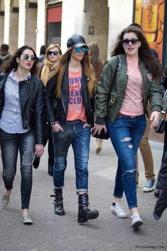 Mia Škaljac, Leona Gajo, Nikolina Ivanković. Bajkerska jakna - zašto je morate imati by StyleZagreb.com