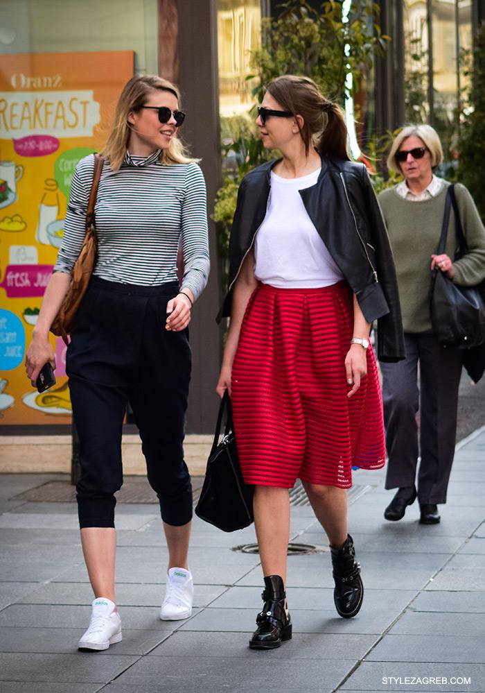 Midi suknja, kako nositi, ulična moda Zagreb street style Zagreb