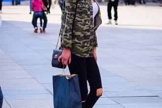 Marija Knezović Military jakna koja je osvojila street style by StyleZagreb.com