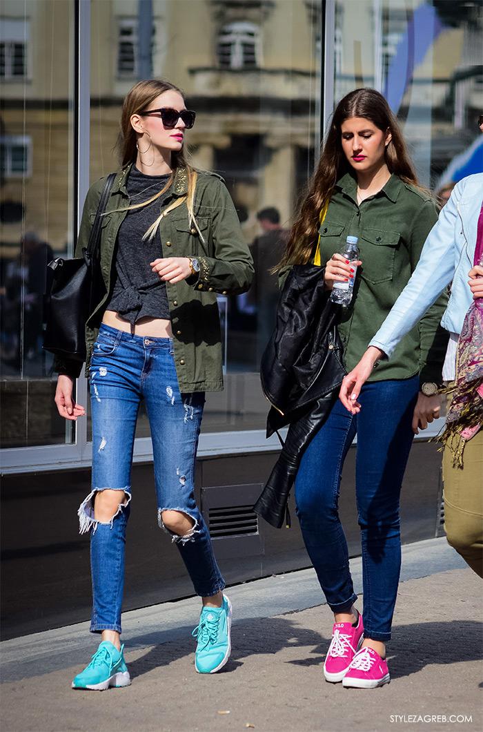 online trgovina zanimljive military jakne, street style Zagreb ulična moda, jakna maskirni uzorak, podrapane traperice, mac ruževi Instagram