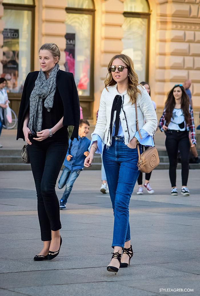 Street style Zagreb, ženska elegantna odjeća za vjenčanja, što odjenuti za vjenčanje, Zara bijeli bukle blejzer