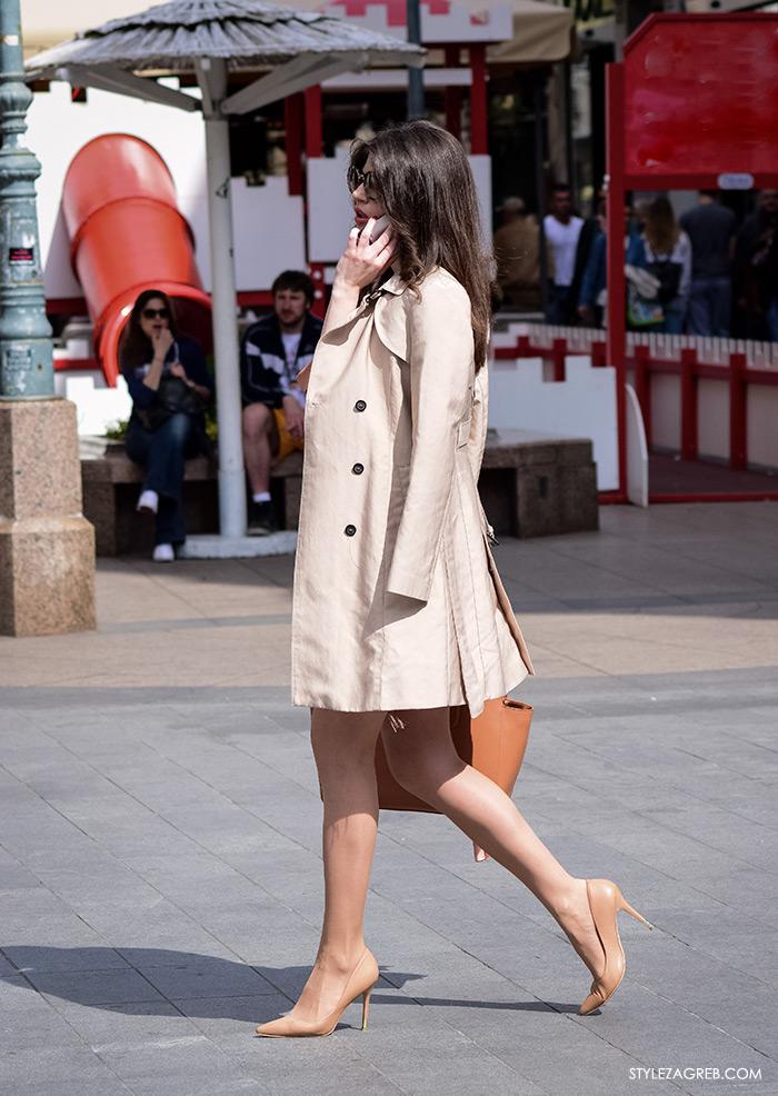 Zagreb ulična moda, Style Zagreb proljeće street style cro moda fashion žena hr, kako nositi elegantni Zara baloner i nude štikle, atraktivna žena hr