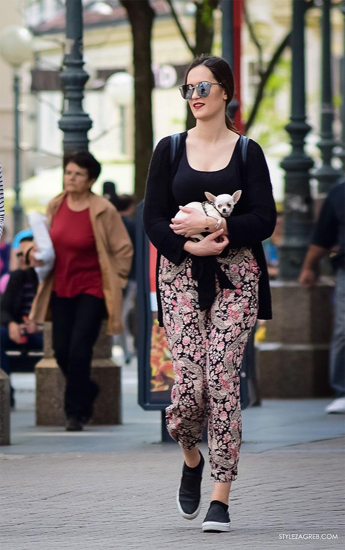 Zagreb ulična moda, Style Zagreb proljeće street style cro moda fashion žena hr, kako nositi cvjetaste hlače