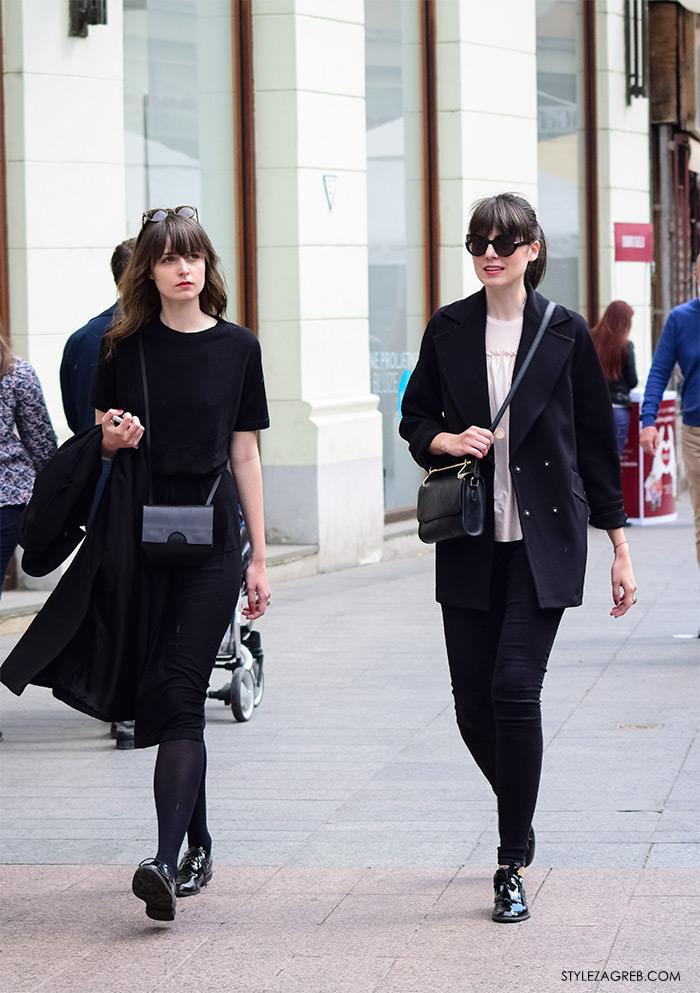 Zagreb ulična moda, Style Zagreb proljeće street style cro moda fashion žena hr, kako nositi crno