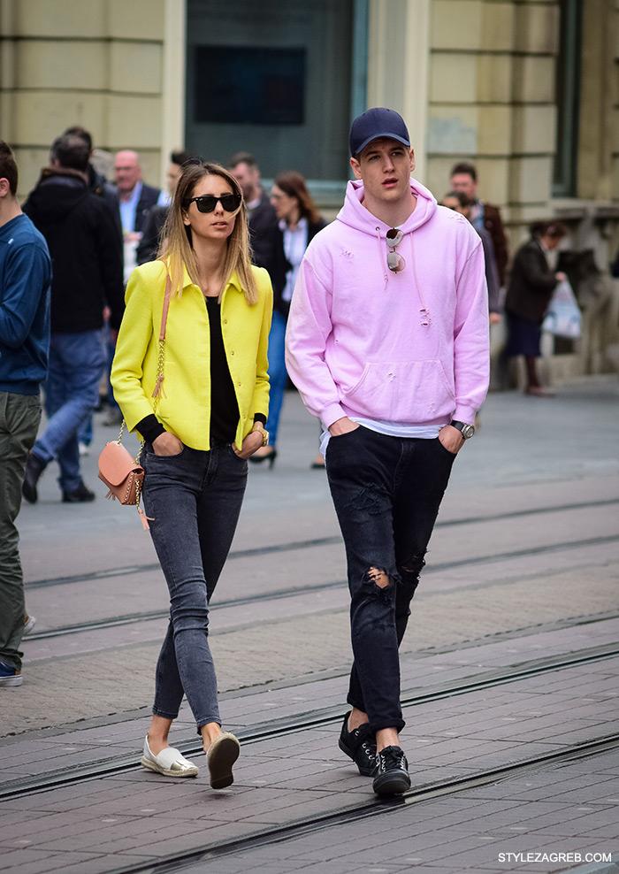 kako nositi roza hoodicu, muška moda, cro moda street style zagreb žena ulična moda proljeće fashion hr zagrebačka špica modne kombinacije trend portal zena hr