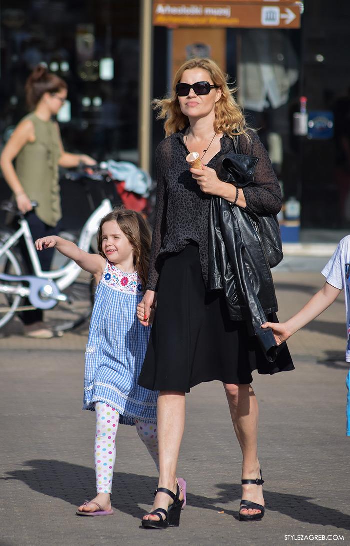 Glumica Lucija Šerbedžija, Street style Zagreb Hrvatska, ulična moda Zagreb, prosvjed Hrvatska može bolje 1.6.2016.