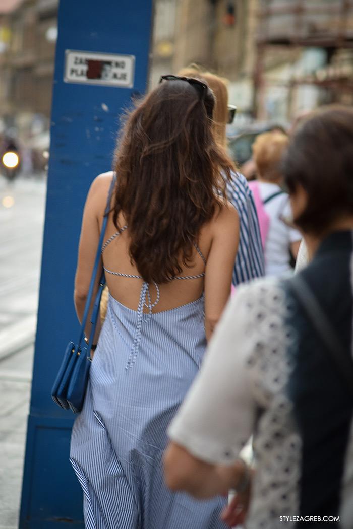 Liza Tedeschi haljina golih leđa, Street style Zagreb Hrvatska, ulična moda Zagreb, prosvjed Hrvatska može bolje 1.6.2016.