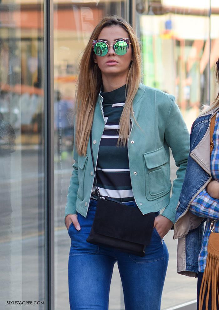 street style Zagreb moda jesen rujan 2016, metalizirane naočale, modna kombinacija žena