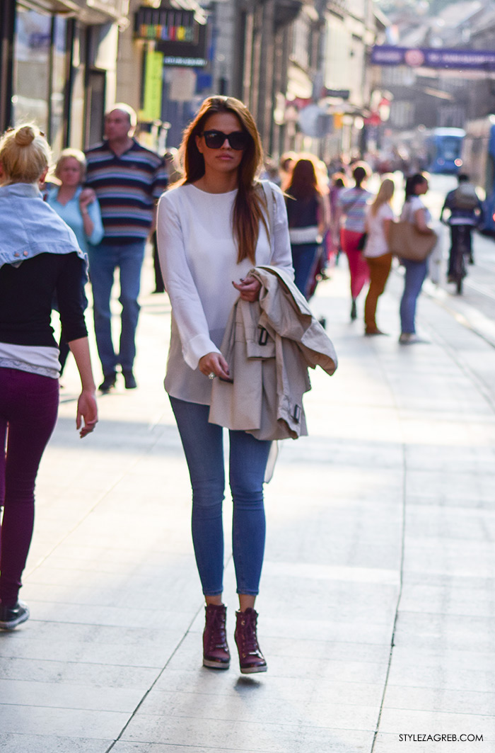 Moda 2016: traperice i bijeli top Zagreb street style, zgodne žene slike