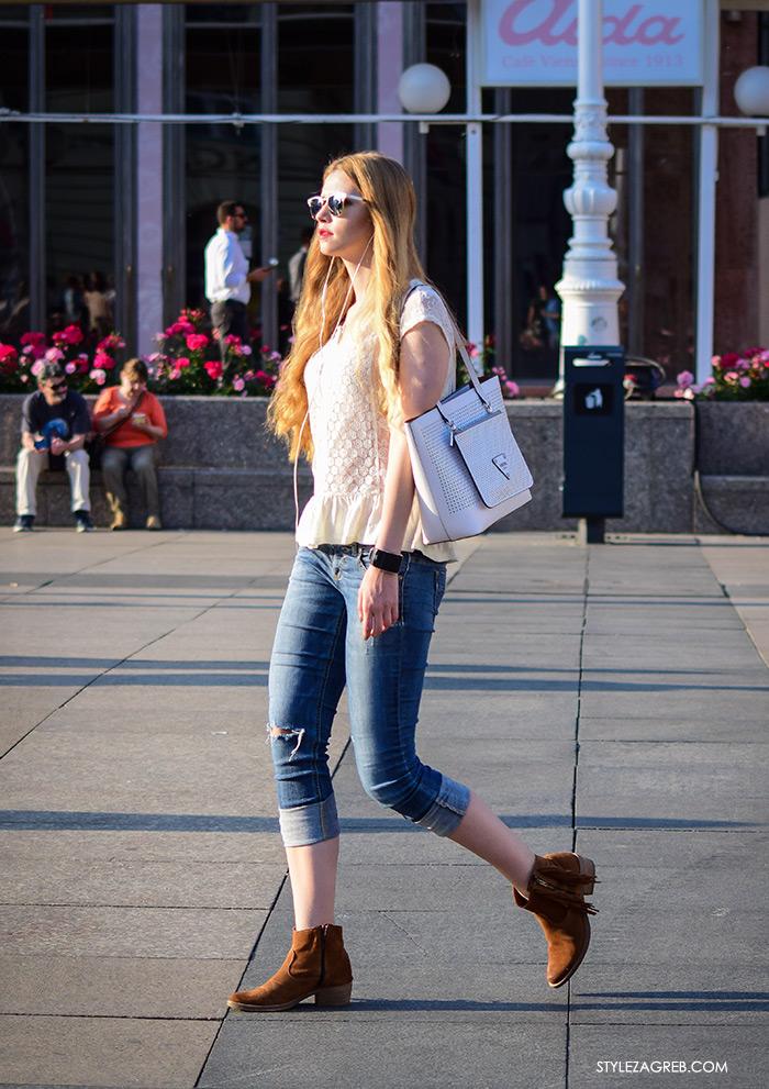 Moda: traperice i bijeli top Zagreb street style