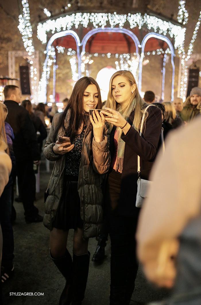 Style Zagreb Advent u Zagrebu špica ulična moda street style subota, Ivana Bilonic Instagram Mija Baketarić paljenje adventskih lampica na Zrinjevcu
