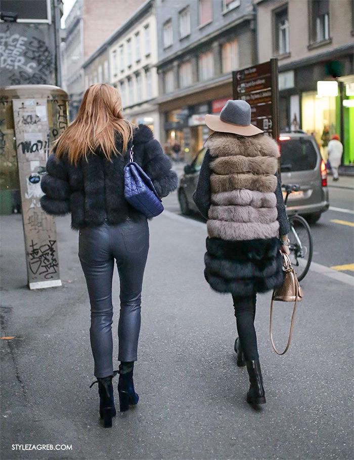 Bundice street style Zagreb ženska moda zima 2017, new faux fur coats and how fashion blogger wear them, stylish womens fashion, winter fashion 2017, Bundice: Kakvi modeli i krojevi se nose u Zagrebu, bundice od umjetnog krzna, roza crna zelena bundica vintage look kako kombinirati