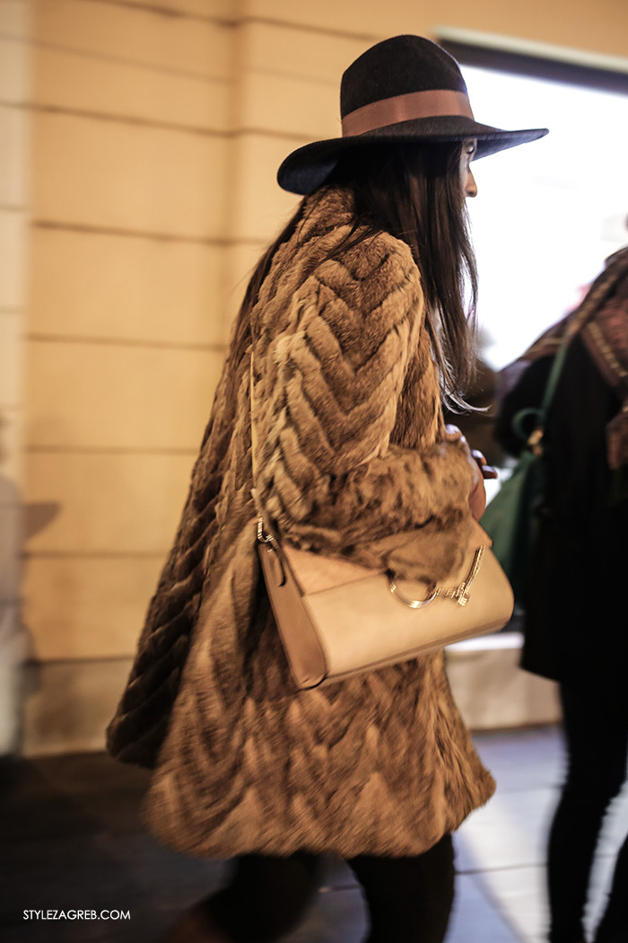 women's winter fashion what to wear street style how to wear fur coat and hat sexy outfit idea