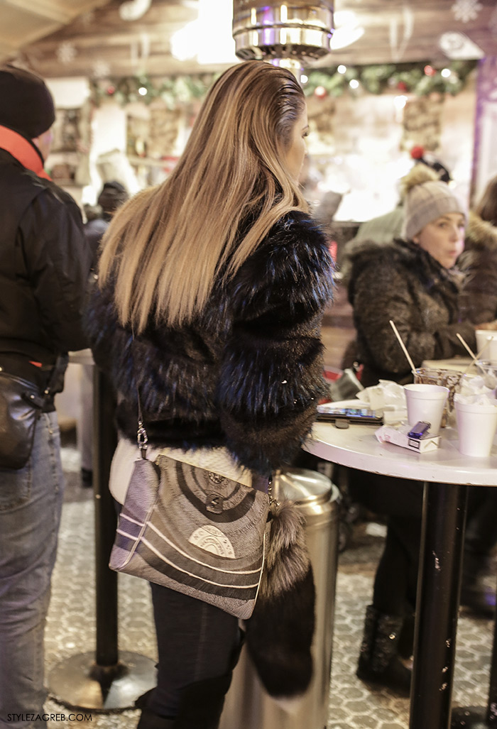 women's winter fashion what to wear street style how to wear cropped fur coat