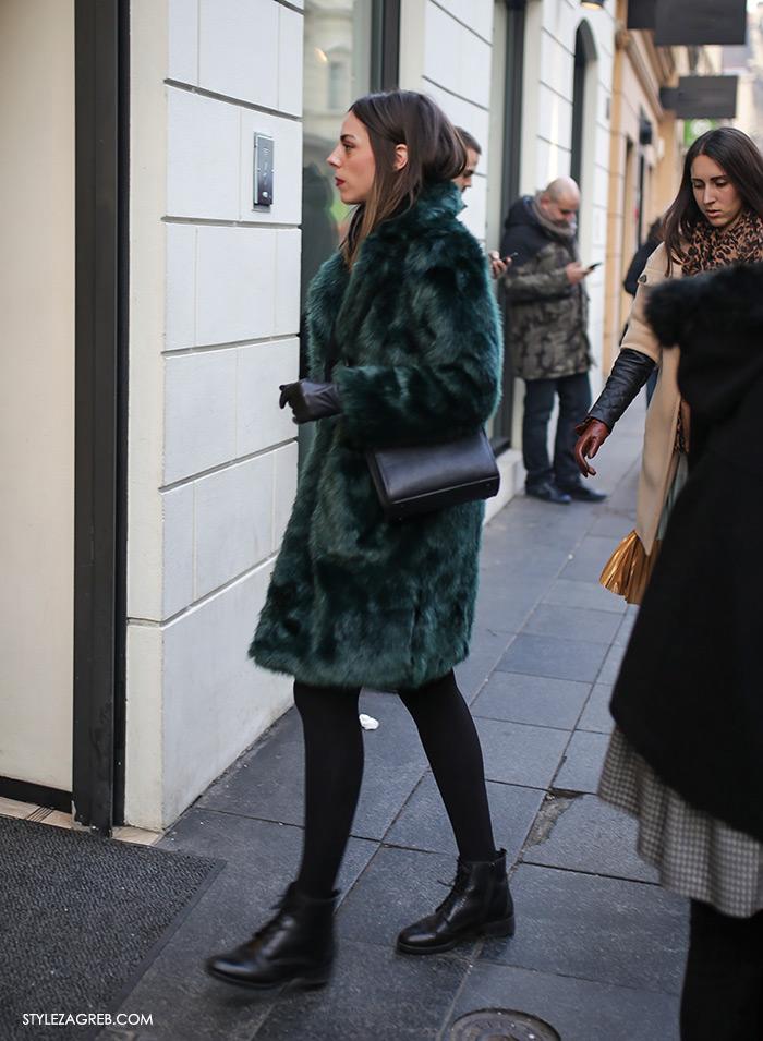 Style Zagreb street style zimska ulična moda, bundica gdje kupiti, faux fur coat where to buy how to wear