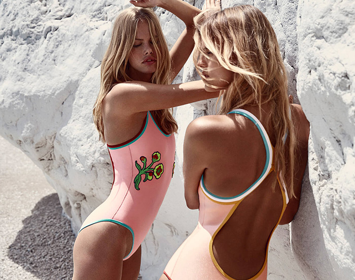 Triangl jednodjelni pink kostim od talijanskog velveta, Triangl bikini kupaci kostimi gdje kupiti