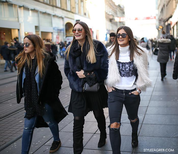 svečane haljine zagreb www žena hr croportal žene hr portali Novogodišnji Zagreb i moćno žensko društvo - Style Zagreb, styling gdje kupiti bijelu kratku bundicu womens street style winter fashion girl squad