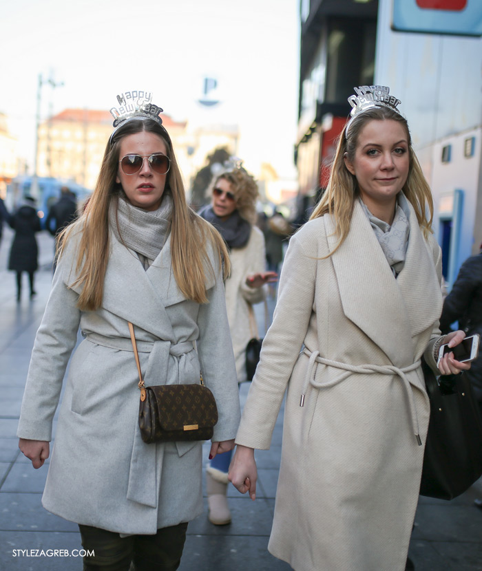 Happy New Year rajf zenski bijeli kaput kako stilizirati gdje kupiti Style Zagreb Instagram, womens street style winter fashion girl squad