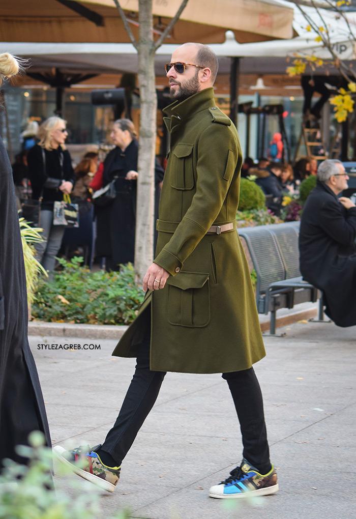 Style Zagreb, muška zimska ulična moda kaputi, street style latest men's casual guy's fashion, overcoat jacket street style men, sneakers with chinos, men street style casual 2016, white sneakers adidas, dude pics,how to wear overcoat mens fashion Gucci loafers, Acne Studios, J.CREW, COS, Hardy Amies, Burberry