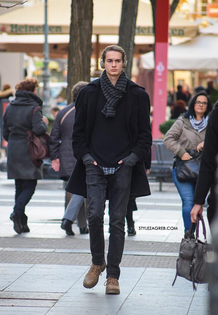 Style Zagreb, muška zimska ulična moda kaputi, street style latest men's casual guy's fashion, overcoat jacket street style men, sneakers with chinos, men street style casual 2016, white sneakers adidas, dude pics, how to wear overcoat mens fashion Gucci loafers, Acne Studios, J.CREW, COS, Hardy Amies, Burberry