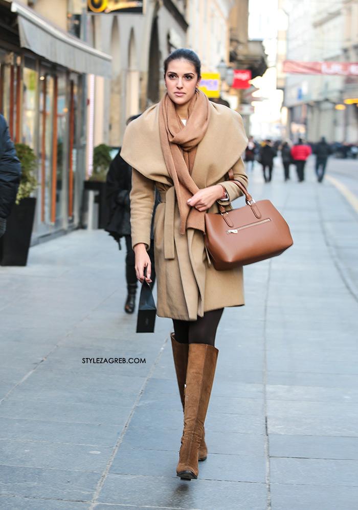 Kaput u boji devine dlake - uvijek je dobra ideja, street style Zagreb ulična moda zena hr fashion Hrvatska Croatia, gdje kupiti bež kaput kako kombinirati styling ideja kombinacije neuatra coat style tips